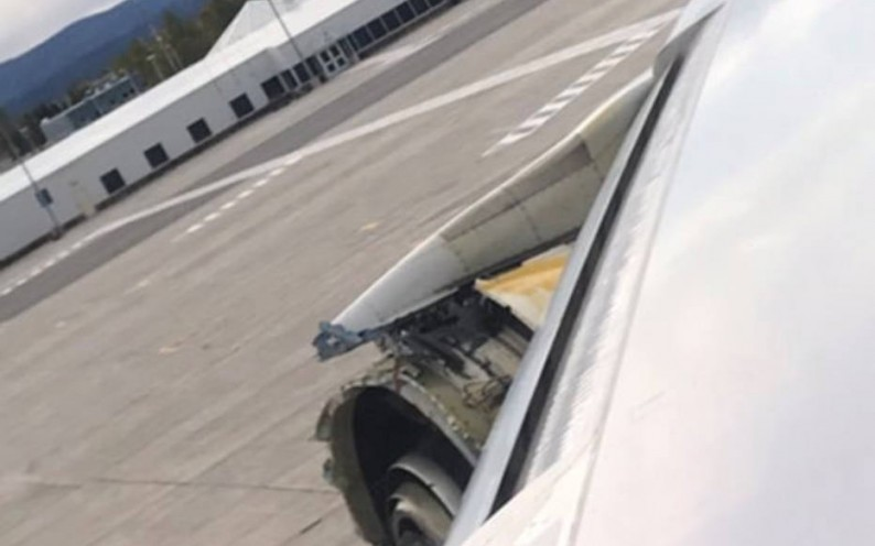 An Air France Airbus A380 is seen during an emergency landing in Happy Valley-Goose Bay, Canada, September 30, 2017, in this still image taken from a video obtained from social media. Daniel Mcneely/via REUTERS THIS IMAGE HAS BEEN SUPPLIED BY A THIRD PARTY. MANDATORY CREDIT.NO RESALES. NO ARCHIVES